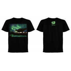 Dinoapp Northern Lights Edmontosaurus Black Tee