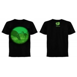Dinoapp Troodon Night Vision Black Tee