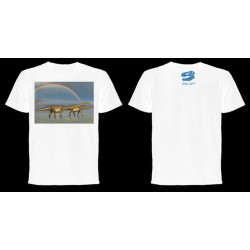 Dinoapp Double Rainbow Mamenchisaurus White Tee