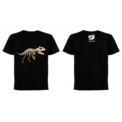 Dinoapp Cryolophosaurus black cotton tee